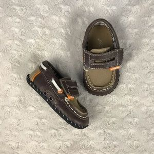Pediped Loafers Size 6-12 Months Brown Orange